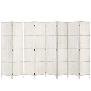 RD C 8001 8P WH 00 300x300 - Artiss 8 Panels Room Divider Screen Privacy Rattan Timber Fold Woven Stand White