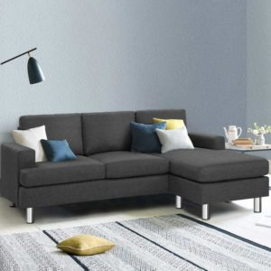 SBED E LIN108 GY AB 99 300x300 - Artiss Sofa Lounge Set Couch Futon Corner Chaise Fabric 4 Seater Suite Dark Grey