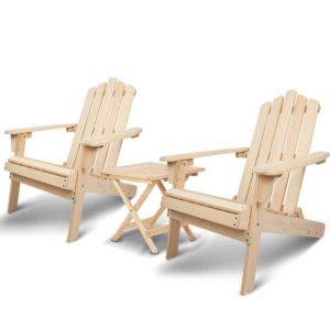 FF ODFBEACH 3NW 00 300x300 - Gardeon Outdoor Chairs Table Set Lounge Patio Furniture Beach Chair Adirondack