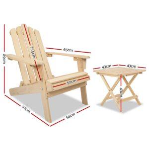 FF ODFBEACH 3NW 01 300x300 - Gardeon Outdoor Chairs Table Set Lounge Patio Furniture Beach Chair Adirondack