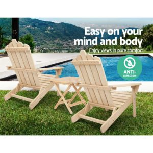 FF ODFBEACH 3NW 04 300x300 - Gardeon Outdoor Chairs Table Set Lounge Patio Furniture Beach Chair Adirondack