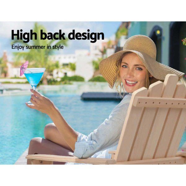 FF ODFBEACH 3NW 05 600x600 - Gardeon Outdoor Chairs Table Set Lounge Patio Furniture Beach Chair Adirondack