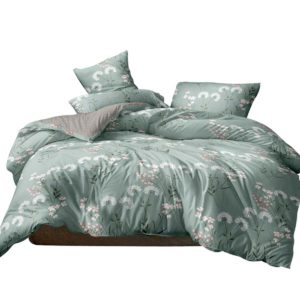 QCS MF PATTERN 002 K 70 00 300x300 - Giselle Bedding Quilt Cover Set King Bed Doona Duvet Reversible Sets Flower Pattern Green