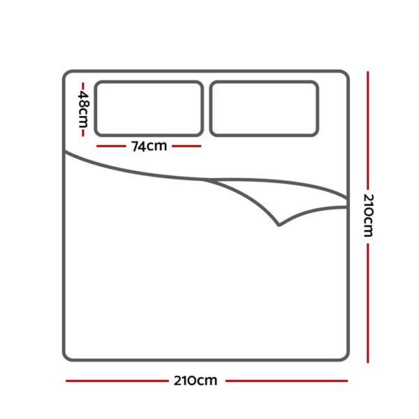 QCS MF SQUARE 002 Q 80 01 600x600 - Giselle Bedding Quilt Cover Set Queen Bed Doona Duvet Reversible Sets Geometry Pattern