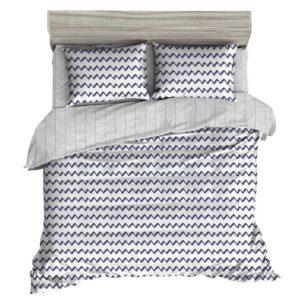 QCS MF WAVE 001 K 80 00 300x300 - Giselle Bedding Quilt Cover Set King Bed Doona Duvet Reversible Sets Wave Pattern Black White