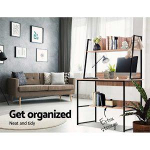 FURNI F DESK 100 WD 02 300x300 - Artiss Office Computer Desk Study Table Workstation Bookshelf Storage Oak