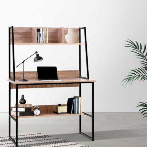 FURNI F DESK 100 WD 99 300x300 - Artiss Office Computer Desk Study Table Workstation Bookshelf Storage Oak