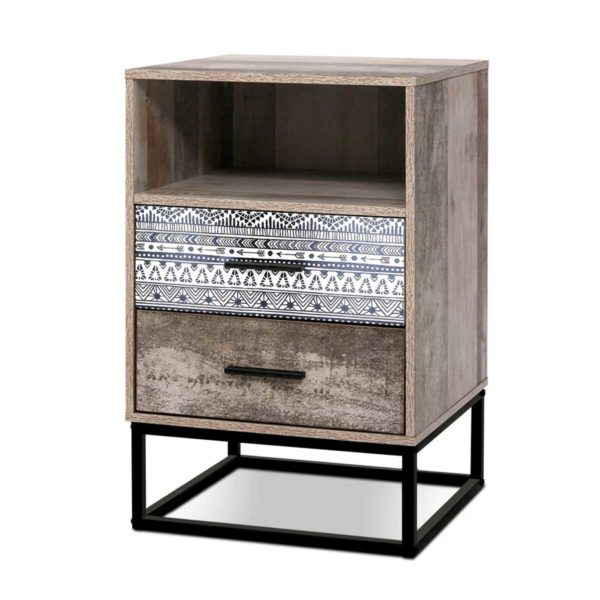 FURNI G IND BSIDE 04 WD 00 600x600 - Artiss Bedside Tables Drawers Side Table Wood Nightstand Storage Cabinet Unit