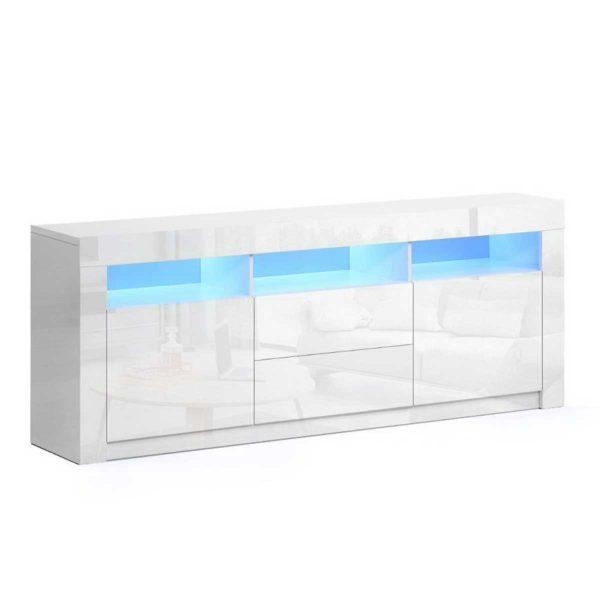 FURNI N LED TV04 WH AB 00 600x600 - Artiss TV Cabinet Entertainment Unit Stand RGB LED Gloss Drawers 160cm White