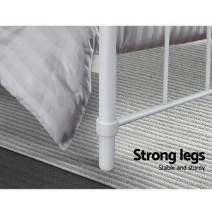 MBED B N04S WH AB 05 300x300 - Artiss Bed Frame SINGLE Size Metal Bed Mattress Base Platform Foundation White LEO