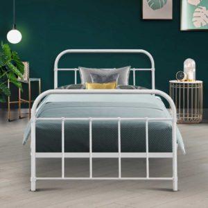 MBED B N04S WH AB 99 300x300 - Artiss Bed Frame SINGLE Size Metal Bed Mattress Base Platform Foundation White LEO