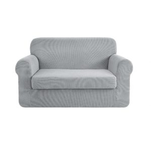 SCOVER 2PC 2 GY 00 300x300 - Artiss 2-piece Sofa Cover Elastic Stretch Couch Covers Protector 2 Steater Grey