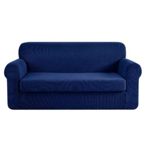 SCOVER 2PC 3 NY 00 300x300 - Artiss 2-piece Sofa Cover Elastic Stretch Couch Covers Protector 3 Steater Navy