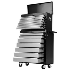 TB 17DR 107 BKGY 00 300x300 - Giantz 17 Drawers Tool Box Trolley Chest Cabinet Cart Garage Mechanic Toolbox Black and Grey