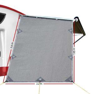 AWN CV B SS END 01 300x300 - Grey Caravan Privacy Screen 1.95 x 2.2M End Wall Side Sun Shade Roll Out Awning