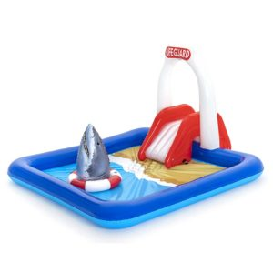 BW POOL PLAY 53079 00 300x300 - Bestway Swimming Pool Above Ground Kids Play Pools Lifeguard Slide Inflatable