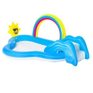 BW POOL PLAY 53092 00 300x300 - Bestway Swimming Pool Rainbow Slide Play Above Ground Kids Inflatable Pools