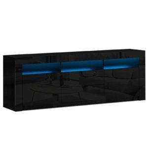 FURNI N LED TV180 BK AB 00 300x300 - Artiss TV Cabinet Entertainment Unit Stand RGB LED High Gloss Furniture Storage Drawers Shelf 180cm Black