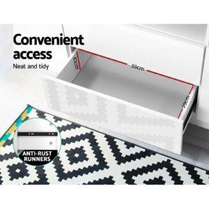 FURNI N LED TV200 WH AB 05 300x300 - Artiss TV Cabinet Entertainment Unit Stand RGB LED High Gloss Furniture Storage Drawers Shelf 200cm White