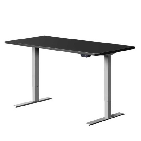 HASD 114E GYDF BKDB 120 00 600x600 - Artiss Height Adjustable Standing Desk Motorised Electric Frame Riser Laptop Computer 120cm