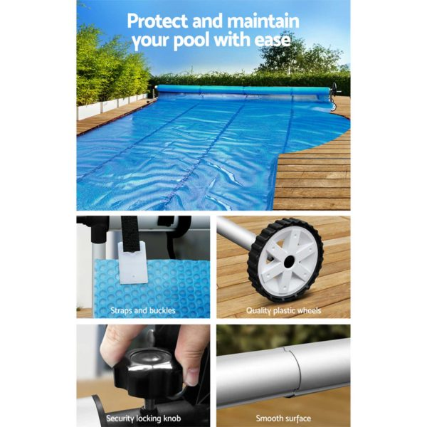 PC ROLLER 40 05 600x600 - Aquabuddy Swimming Pool Cover Roller Reel Adjustable Solar Thermal Blanket