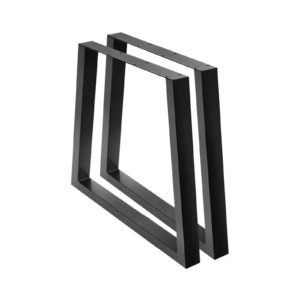 TAB LEG TRA 716590 BKX2 00 300x300 - Artiss 2x Coffee Dining Table Legs 71x65/90CM Industrial Vintage Bench Metal Trapezoid