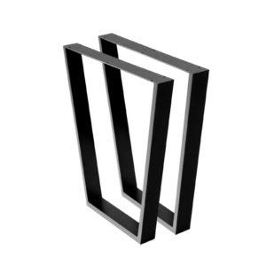 TAB TRA 716540 BKX2 00 300x300 - Artiss 2x Coffee Dining Table Legs 71x65/40CM Industrial Vintage Bench Metal Trapezoid