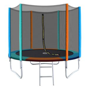 TRAMPO B 8FT MC 00 300x300 - 8FT Trampoline Round Trampolines Kids Safety Net Enclosure Pad Outdoor Gift Multi-coloured