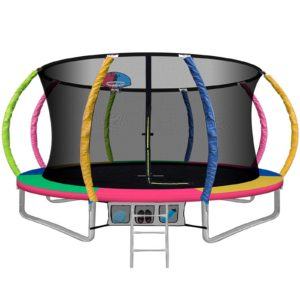 TRAMPO C C12 MC AB 00 300x300 - 12FT Trampoline Round Trampolines With Basketball Hoop Kids Present Gift Enclosure Safety Net Pad Outdoor Multi-coloured