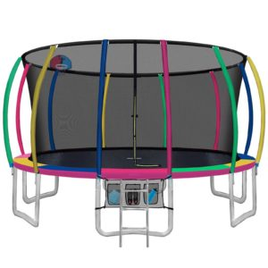 TRAMPO C C16 MC ABC 00 300x300 - 16FT Trampoline Round Trampolines With Basketball Hoop Kids Present Gift Enclosure Safety Net Pad Outdoor Multi-coloured