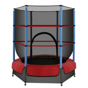 TRAMPO C MINI45 OR 00 300x300 - 4.5FT Trampoline Round Trampolines Kids Enclosure Safety Net Padding Outdoor Indoor Gift Present