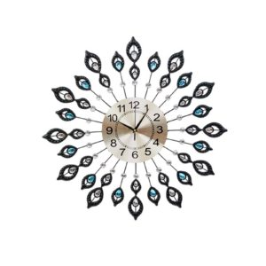 WC IRON 199060 BK 00 300x300 - Wall Clock Extra Large Modern Silent No Ticking Movements 3D Home Office Decor - 60cm